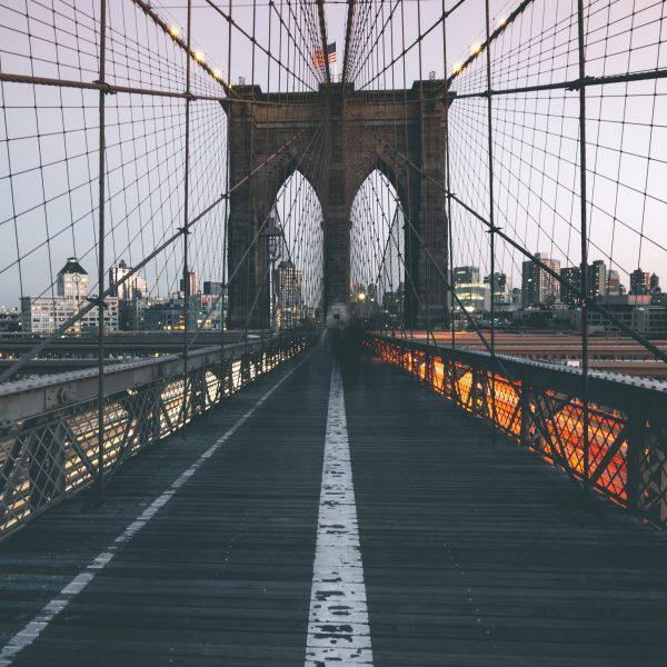 Traffic on Brooklyn Bridge - New York